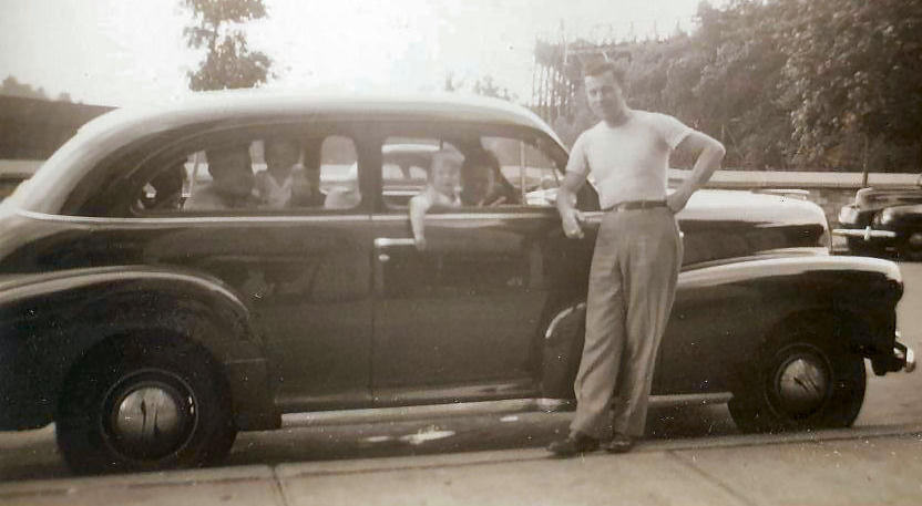 New Car. Inwood Hill Park, New York. 1947