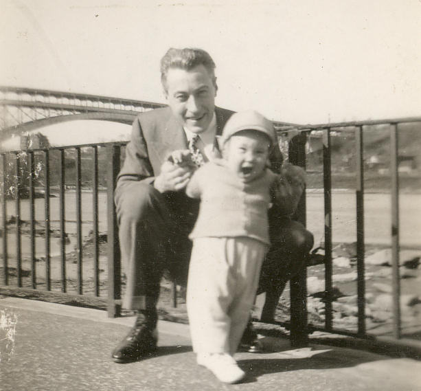 Dad and Teddy, Inwood Hill Park, New York. 1947