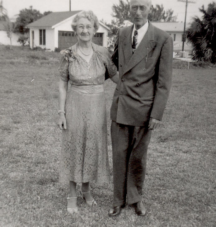 Grandpa and Grandma Davids, St. Petersburg, Florida, 1951